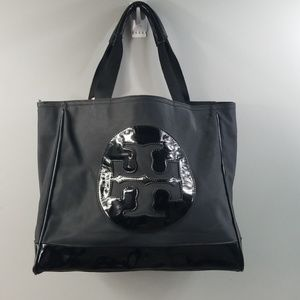 Tory Burch Large Leather Handbag T Logo tote